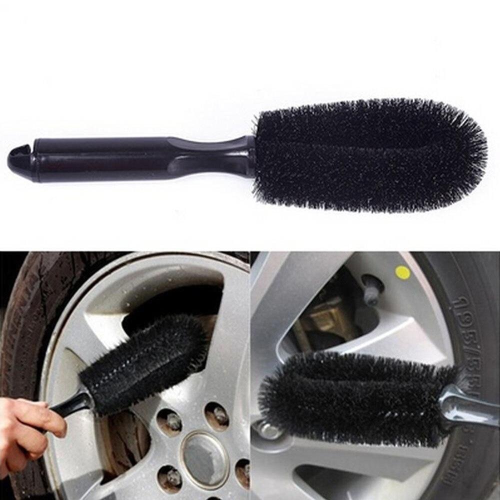 Veículo roda escova de lavagem pneu de carro aro de limpeza lidar com ferramenta de escova para o caminhão de carro da motocicleta bicicleta carro escova ferramenta quente nova arri
