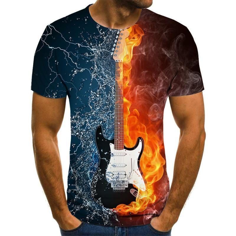 Fashion T-Shirt 3d Men/Women Funny Hip Hop Guitar Bass Tshirt Print Streetwear Music Top Suit Kids T