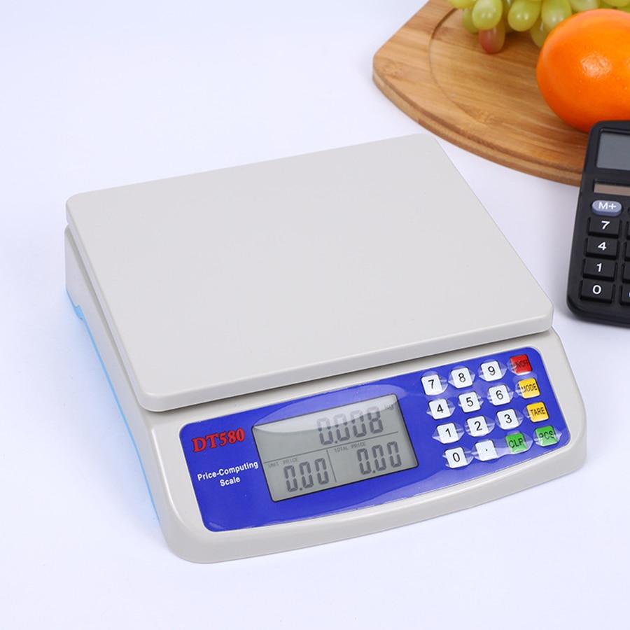 ميزان مطبخ رقمي متعدد الوظائف مع شاشة LCD ، لوزن الطعام ، وأدوات الطبخ الدقيقة ، 30 كجم/1 جم