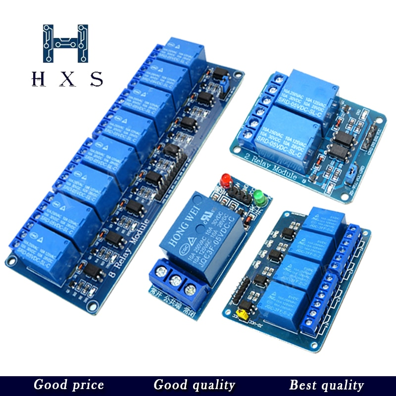 ¡1 Uds 5V 12V 1 2 4 8 módulo de canal de relé con optoacoplador! Módulo de relé de salida 1 2 4 8 vías para arduino en stock