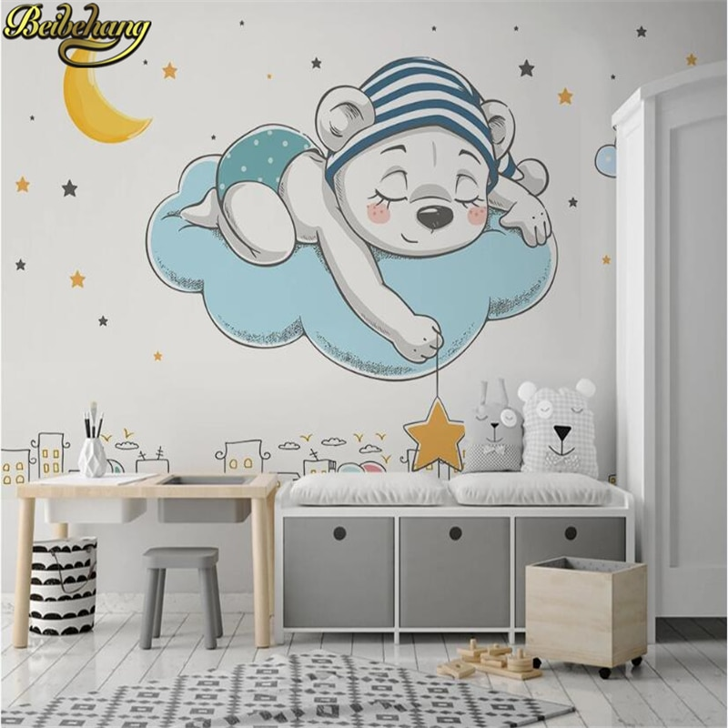 beibehang custom european damascus wallpapers for living room photo mural wall papers home decor 3d wallpaper for bedroom walls beibehang Custom Mural Wallpaper For Walls 3D Background Fantasy sky bear bedroom Wall Painting Living Room Bedroom Home Decor