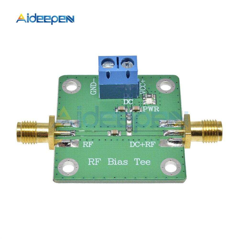 Bias Tee Broadband 10-6000MHz 6GHz RF Microwave DC bias DC Blocker for HAM Radio Amplifier Board RTL SDR LNA Low Noise