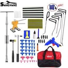 Herramienta de reparación de abolladuras sin pintura, caja de herramientas de combinación, Kit de herramientas de reparación de carrocería, eliminador de abolladuras, Kit de herramientas