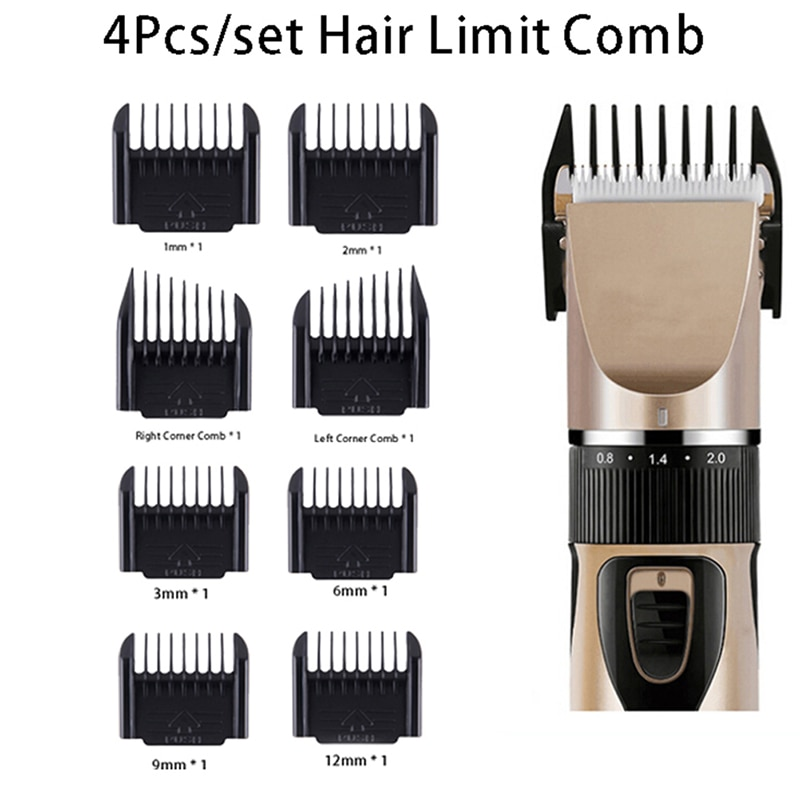 4Pcs/set Professional Limit Comb Hair Trimmer Shaver Cutting Guide Comb Hairdressing Tool Set