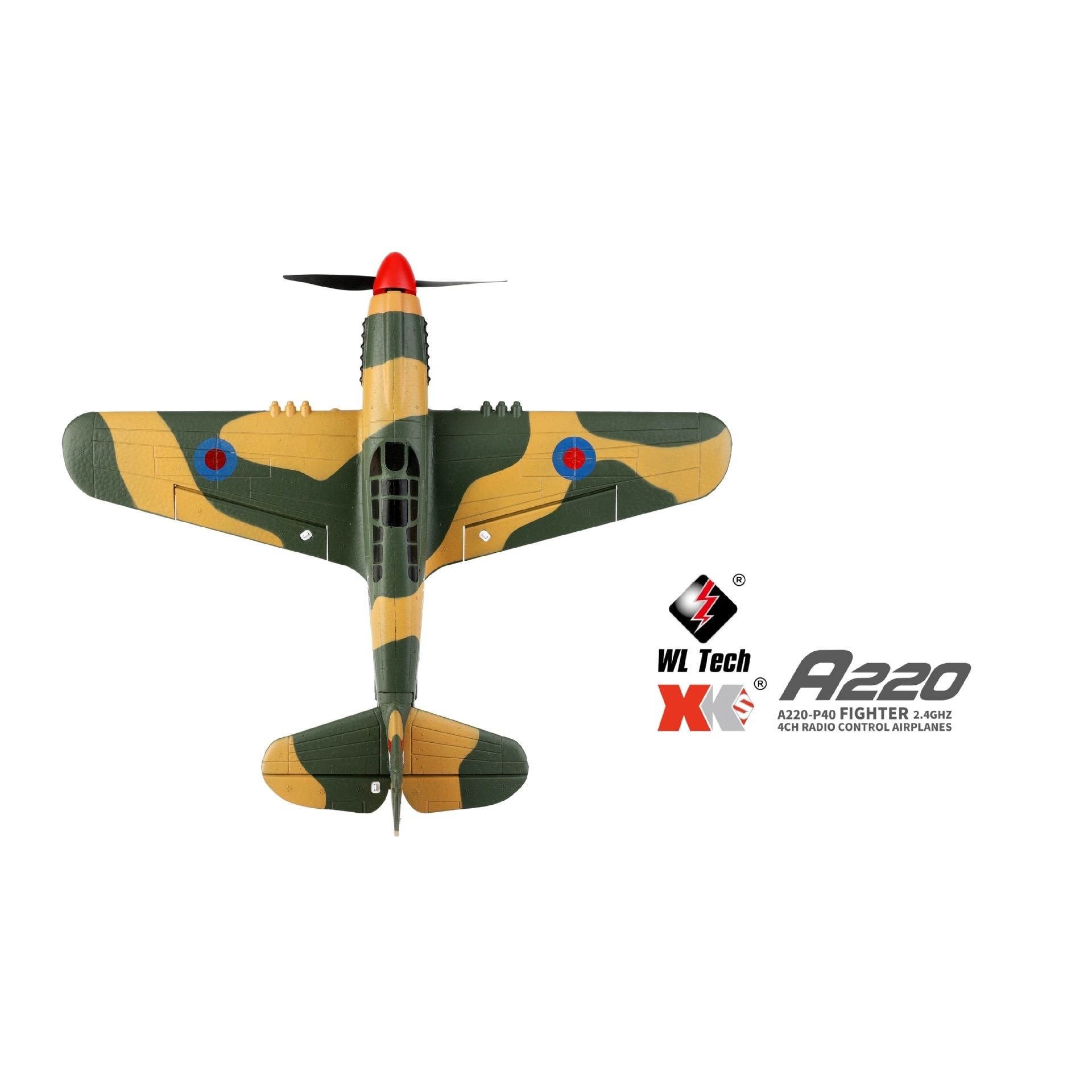 Wltoys RC Plane XK A220 P40 4Ch Glider Airplane remote control aircraft 384 Wingspan 6G/3D Stability Electric helicopter boy toy enlarge