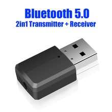 USB Bluetooth 5.0 Transmitter Receiver 3 in 1 EDR Adapter Dongle 3.5mm AUX for TV PC Headphones Home
