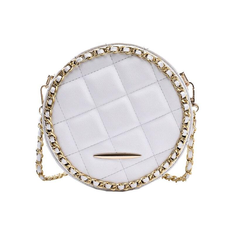 Сумки для Для женщин 2020 Новый стиль Пильная цепь Для женщин сумка текстура все-матч маленькая круглая сумка сумочка-мессенджер для шопинга бумажник