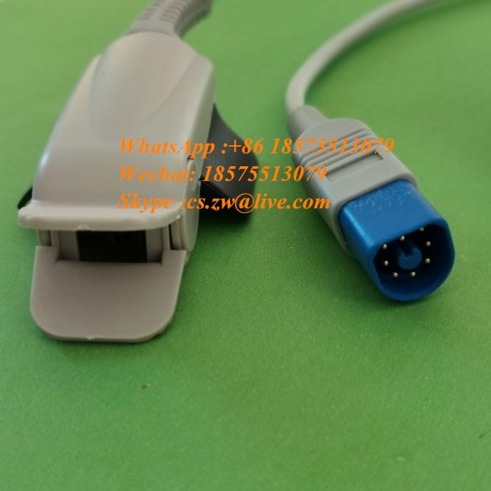 philip s m1191bl m1193a clipe de dedo de oito pinos saturacao sonda cabo ecg monitor acessorios