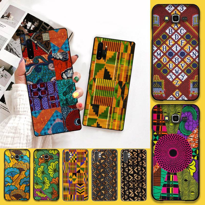 HPCHCJHM African style fabric print Phone Case For Samsung Galaxy J7 J8 J6 Plus 2018 Prime Note 7 8