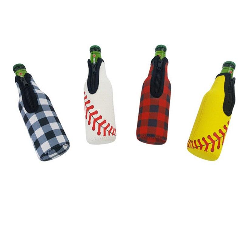 1 Uds. Portabotellas de 330ML, funda protectora de neopreno, lata, cerveza, enfriado, familia, recolección facial, regalo para padre