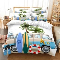 seabeach bedding set duvet cover set 3d bedding digital printing bed linen queen size bedding set fashion design