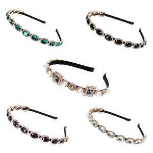 Hairband Embellished Headband Accessories Jeweled Hair temperament Crystal Baroque Ladies