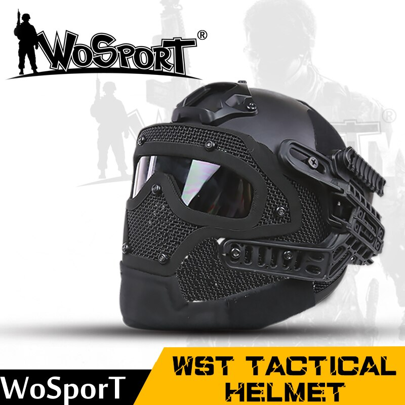 Wosport hot new tactical helmet BJ MH ABS code with Goggle for military Airsoft paintball Army Wargame motorcycle hunting