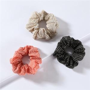 LUNA CHIAO Fashion Hair Accessories Striped Pattern Scrunchies Set-Women Fabric Ponytail Holders