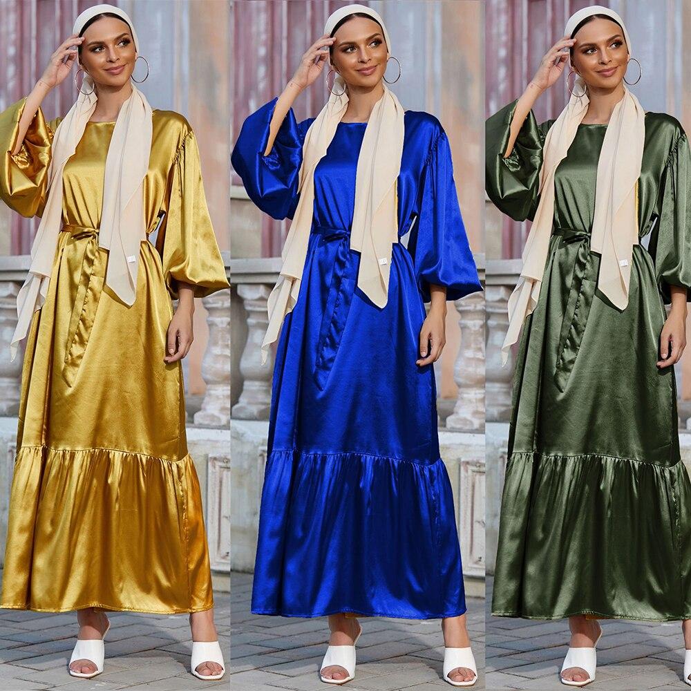 Рамадан ИД Мубарак Кафтан Дубай абайя Турция Ислам Мусульманский Модный женский хиджаб платье Caftan Marocain платья женское платье