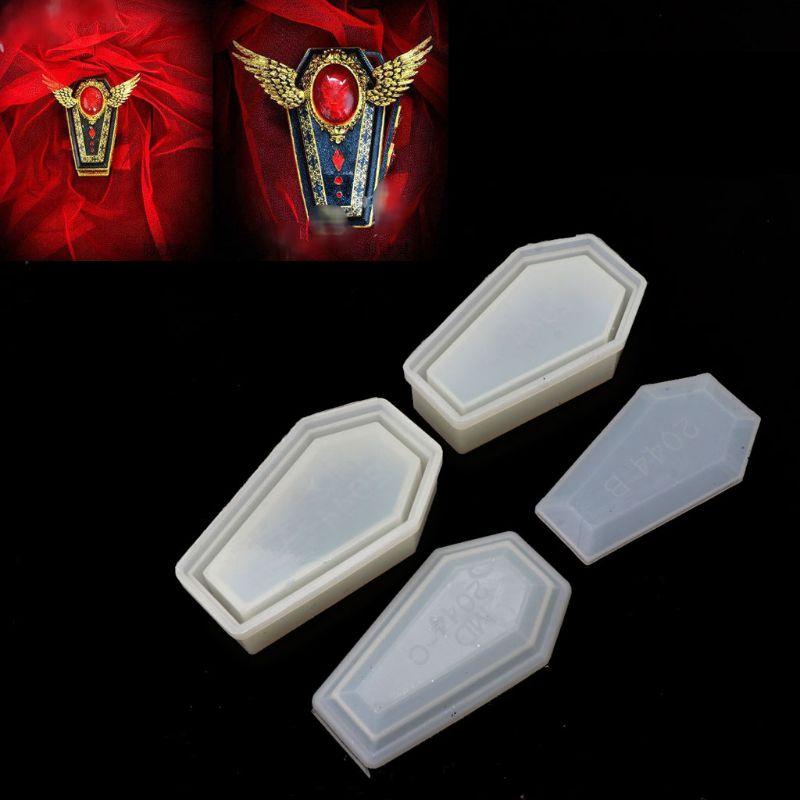 Смола литья форма для коробки хранения силиконовая коробка гроба формы Хэллоуин ювелирные изделия инструменты