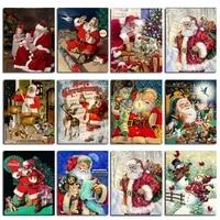 zooya christmas 5d diamond painting santa claus cartoon full drill square embroidery mosaic sale home decor art handcraft lx734