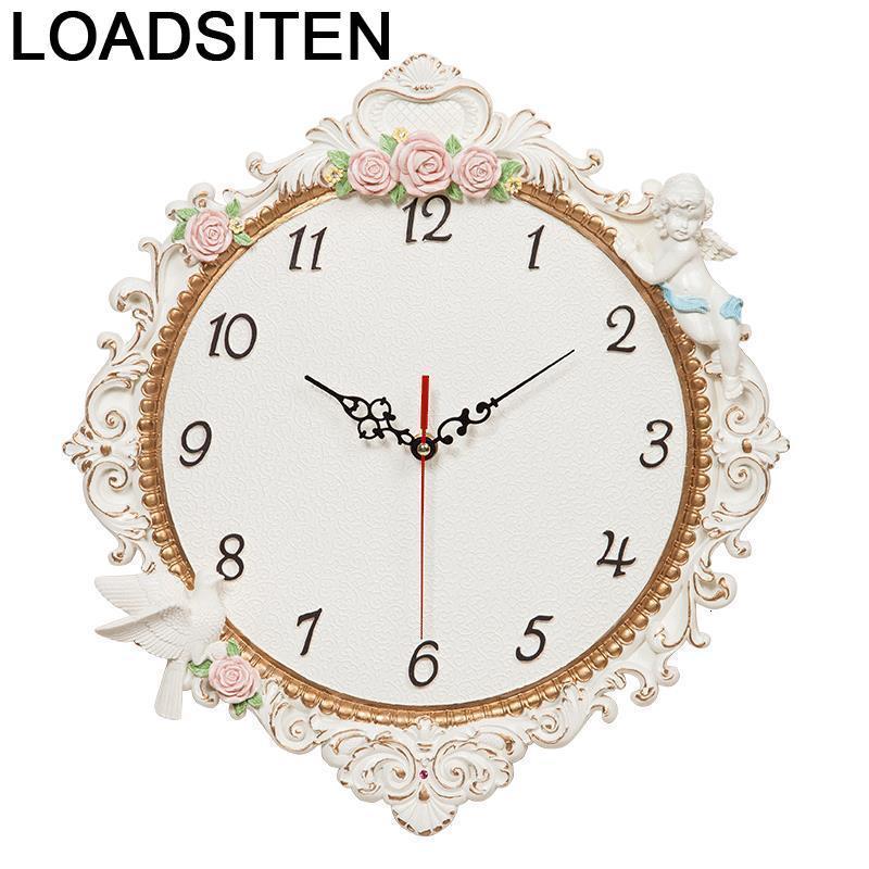 Casa Shabby Chic Jam Dinding Murale Reloje Klokken Wandklokken Zegar Reloj Pared Reloj
