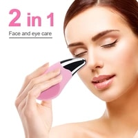 electric facial cleansing brush ultrasonic vibration face wash mini silicone face brush deep cleaning skin washing massage brush