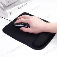 black eva wrist rest support gamer mouse mice mat pad for computer pc laptop anti slip ergonomic design dota2 csgo lol mosuepad