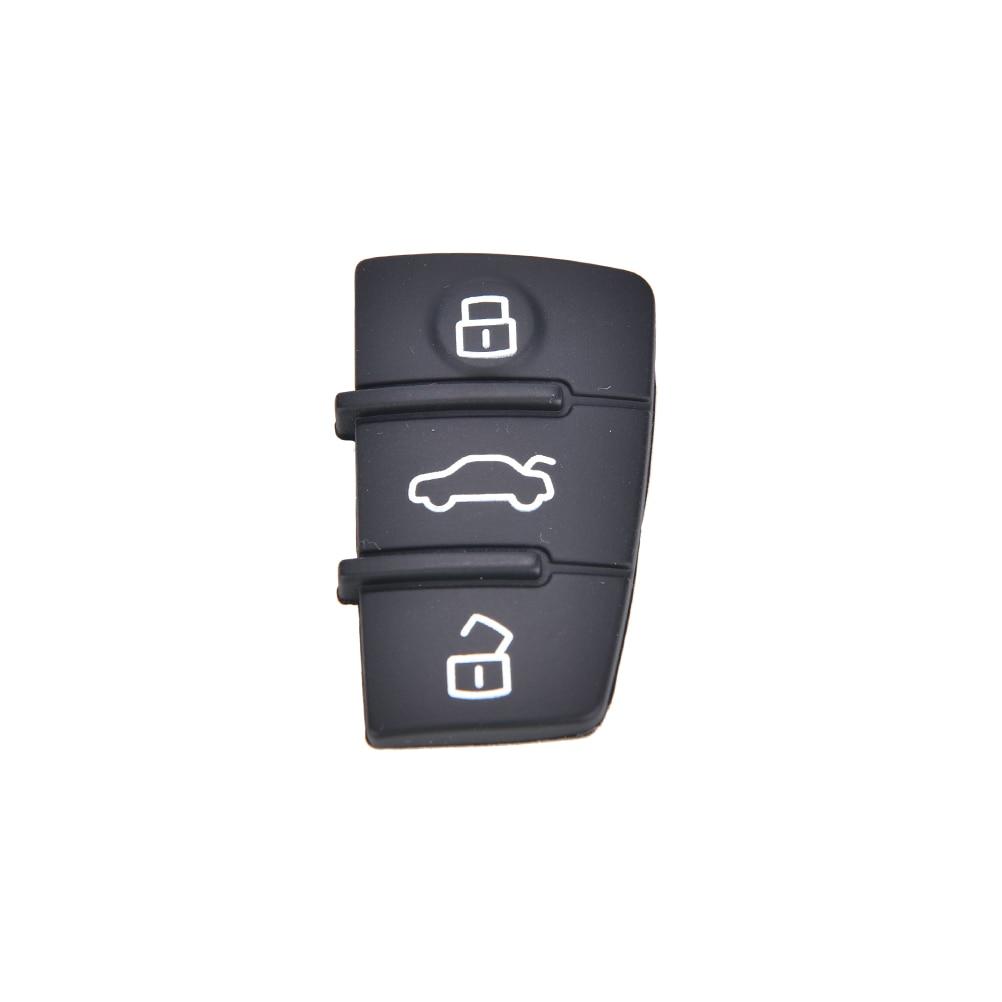 Ремонт 1 шт. Брелок дистанционного ключа 3 кнопки резиновая прокладка замена Подходит для Audi A3 A4 A6 TT Q7