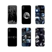 Accessoires coques de téléphone couvre herbe sorcière clair de lune pour Apple iPhone X XR XS MAX 4 4S 5 5S 5C SE 6 6S 7 8 Plus ipod touch 5 6