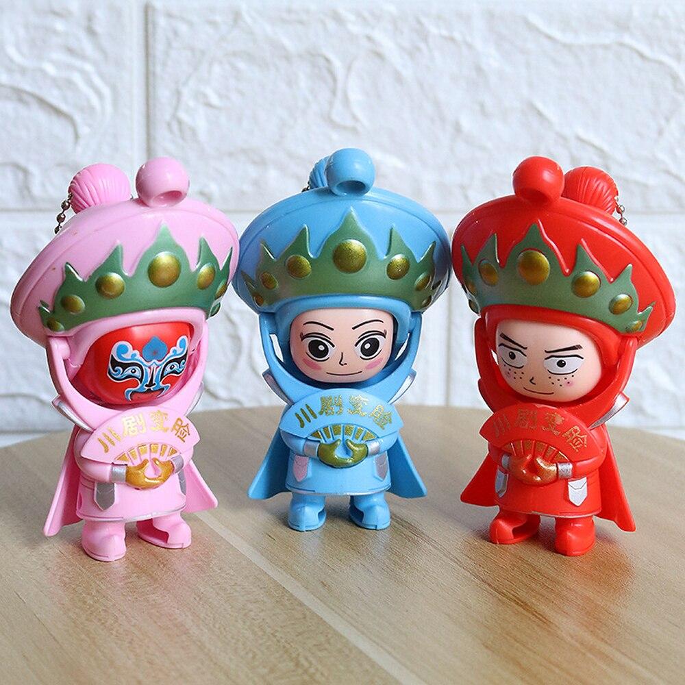 Изменение лица Пекинские оперные куклы Традиционный китайский народный ремесленник Сычуань Китайская опера Кукла Брелок фигурка игрушки подарок