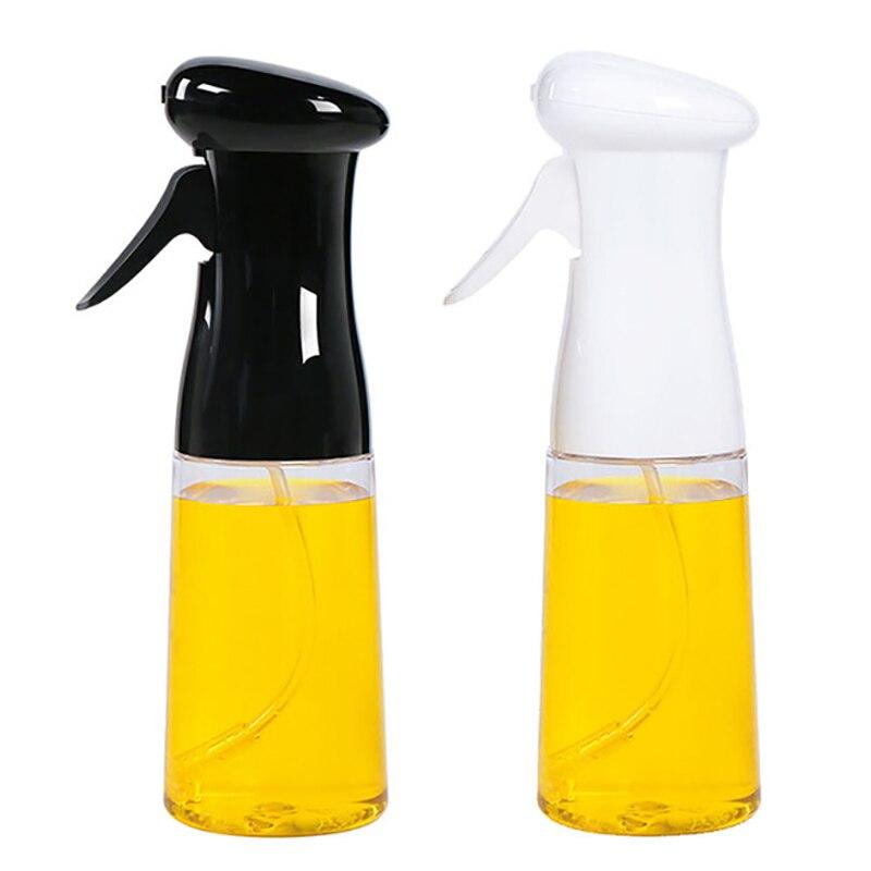 Venda quente 2 pçs óleo spray garrafa cozinhar cozimento vinagre pulverizador churrasco spray garrafa 200ml material plástico preto + branco