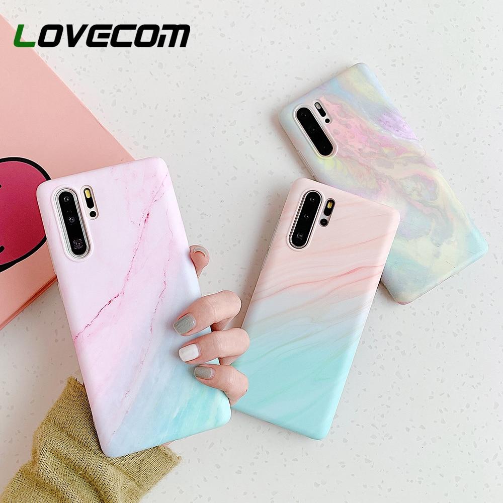 LOVECOM, carcasa para teléfono con degradado de mármol para Huawei P20, P30, P40 LIte, P20, P30 Pro, Mate 20, 30 Lite, funda IMD suave Mate, funda trasera del teléfono