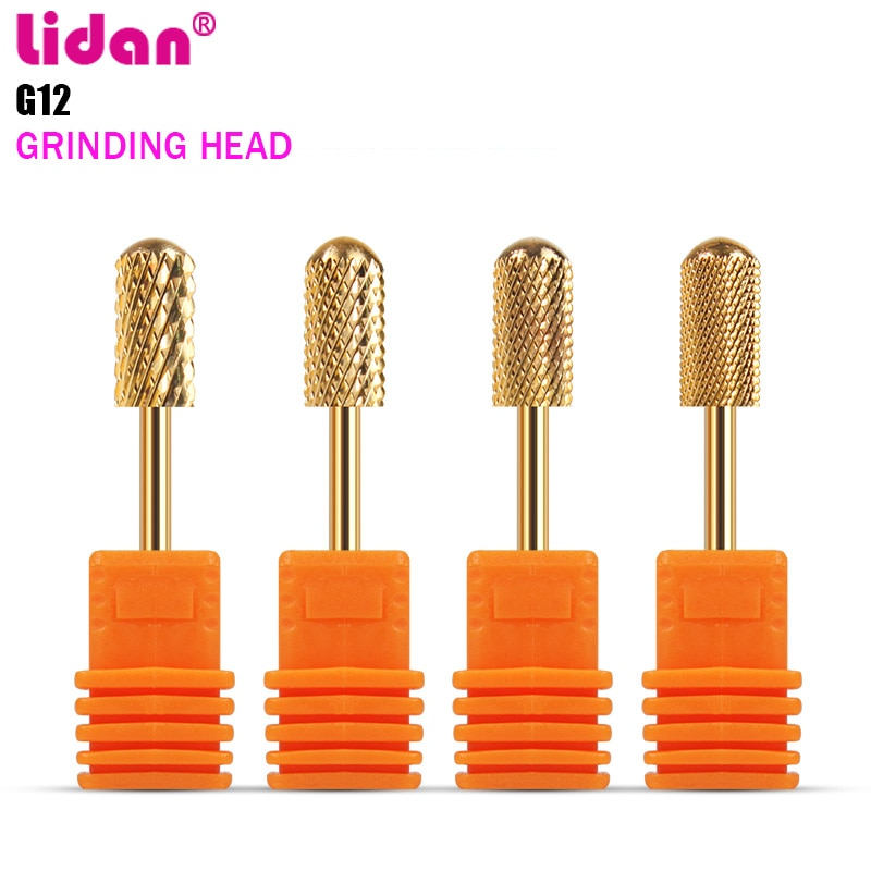 Lidan Tungsten Steel Carbide Nail Drill Bit Electric Manicure Drills Machine Accessories Milling Cutter File Nail Art Tools  - buy with discount