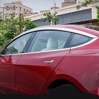 for tesla model 3 2017 2020 waterproof decorative strip sun visor modification car window rain eyebrow rain shie