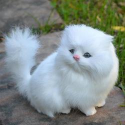 Realista bonito simulação recheado de pelúcia branco persa gatos brinquedos gato bonecas decoração da mesa crianças meninos meninas presente natal simulação pelúcia