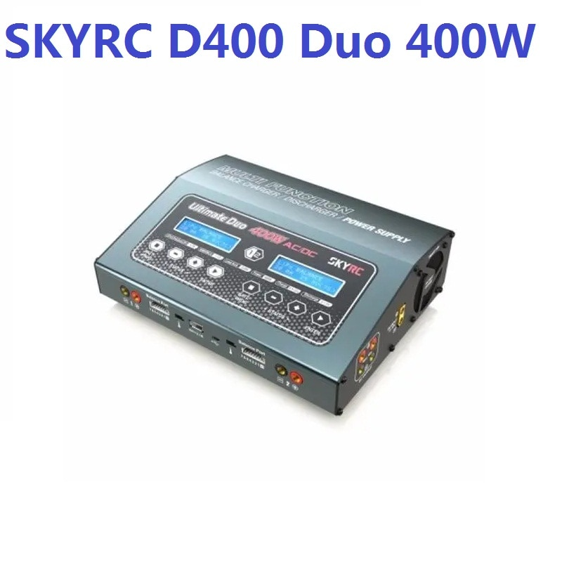 SKYRC-شاحن توازن D400 Ultimate Duo ، 400 واط ، تيار متردد/تيار مستمر