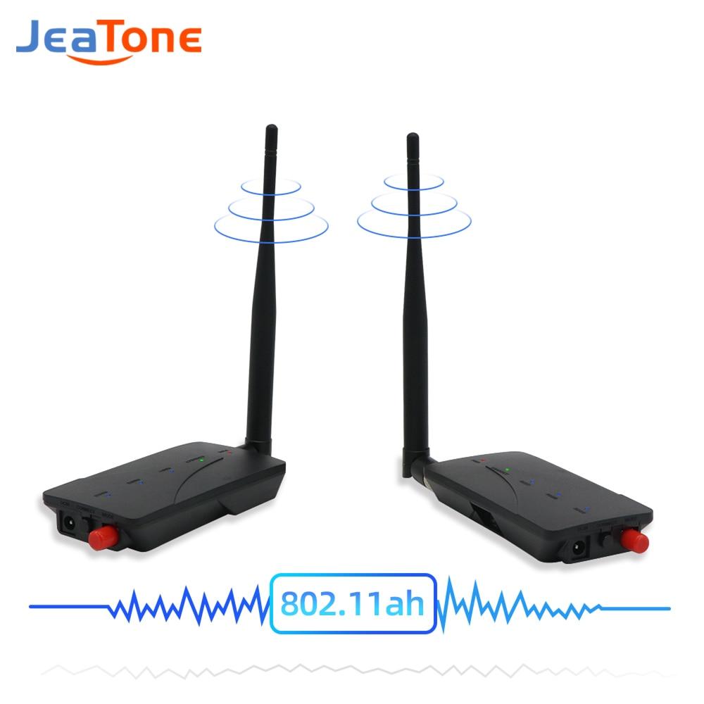 Jeatone 1000 м кабель удлинитель беспроводной репитер камера WiFi цифровой усилитель сигнала 2,4 ГГц 802.11ah передатчик и приемник