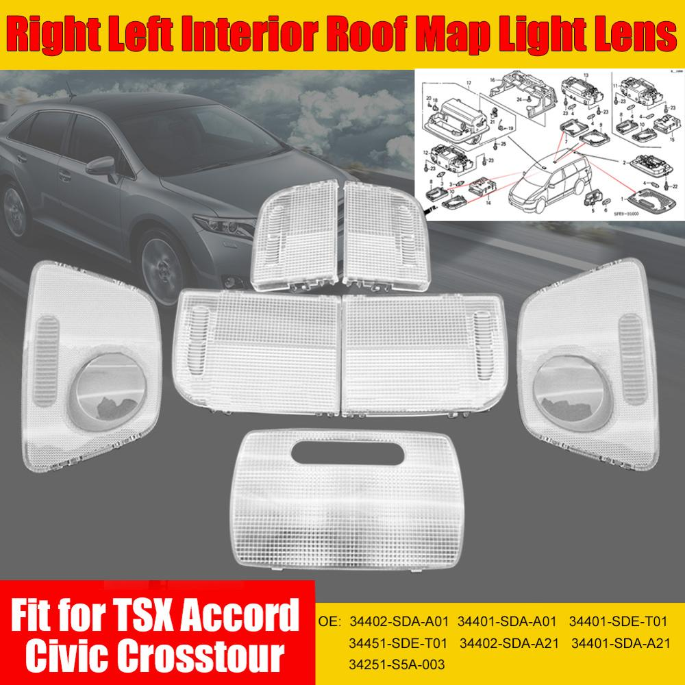 1 par/1 pieza Interior Mapa de techo lente de luz para Honda LED Interior luz Footwell maletero guante bota Box lámpara para Honda