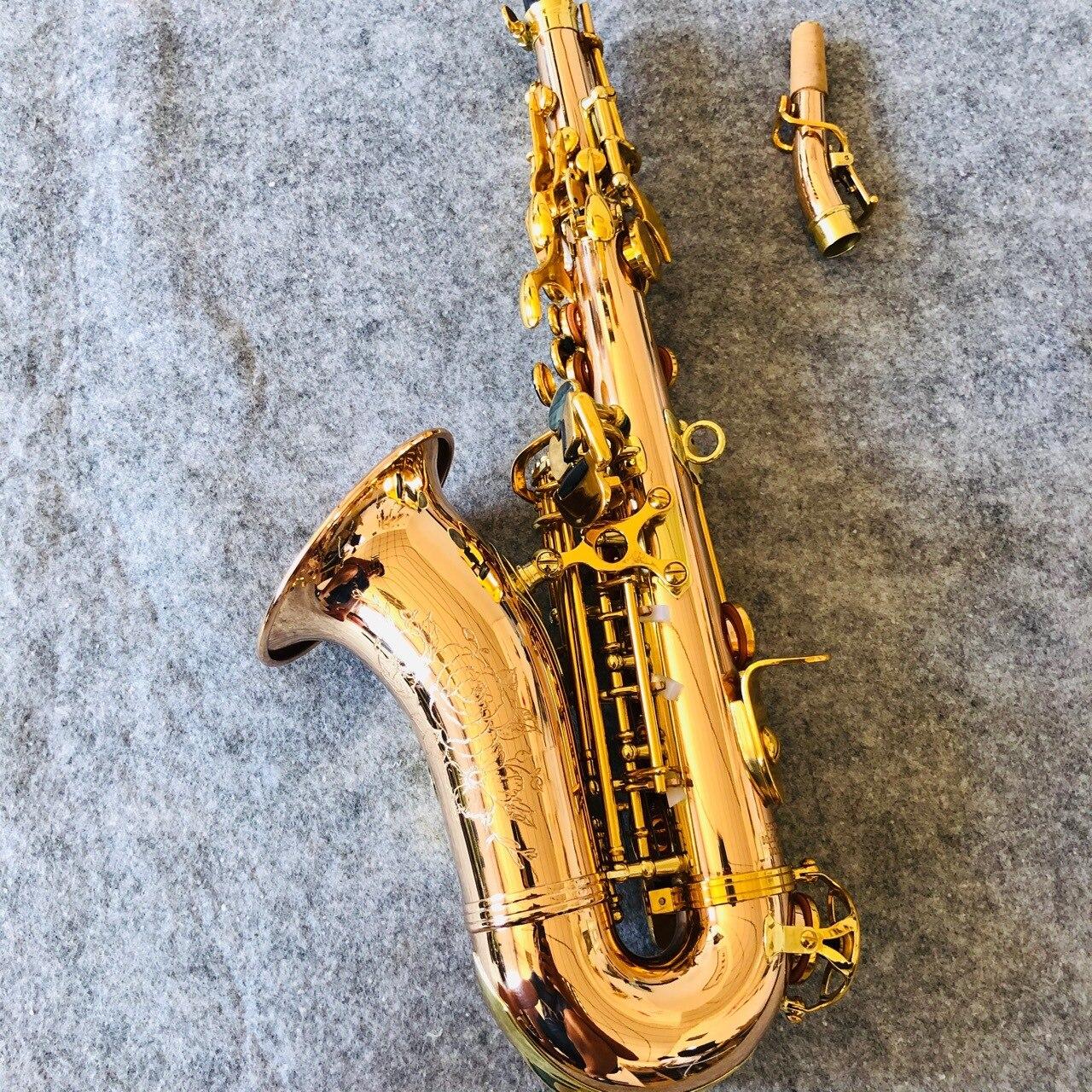 Material de Bronze Crianças Agudos Plana Pequeno Cotovelo Concha Snap Grelhado Saxofone Primavera Azul b