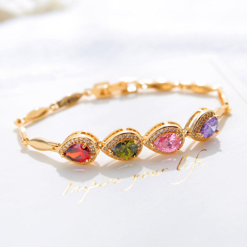 CAB005 Trendy Summer New Fashion Hot Round Crystal Jewelry charm bracelet & Bangles anklet for women Gold bracelets for women