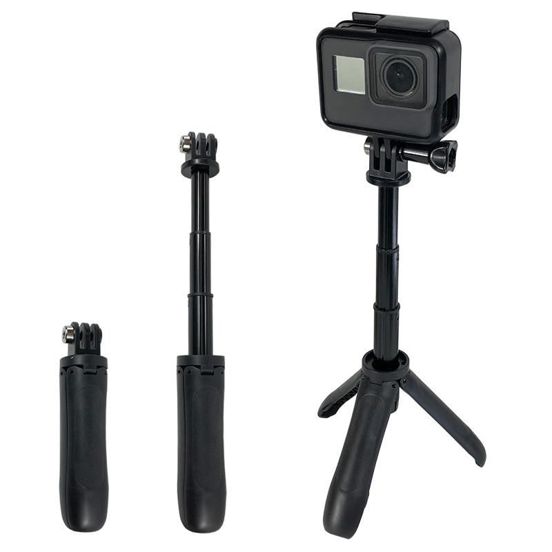 Selfie عصا للتمديد Monopod ترايبود صغير جبل ل Gopro بطل ل SJCAM شاومي يي 4k الرياضة كاميرا الملحقات
