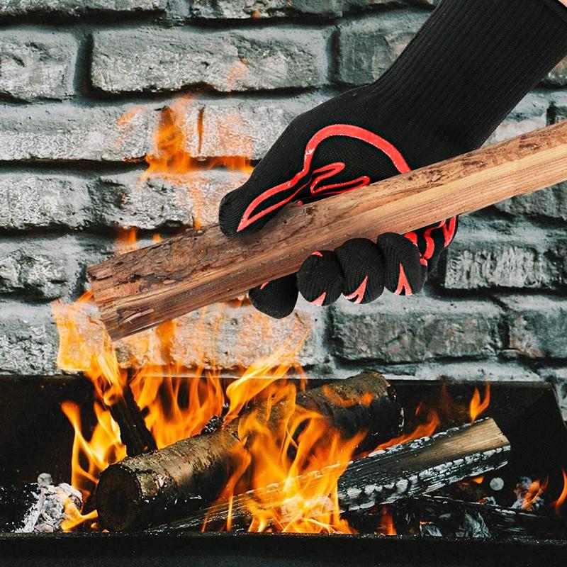 Gants de Barbecue résistant à la chaleur GMG nouveau matériau 1472-Silicone anti-dérapant cuisson cuisson Barbecue four gants