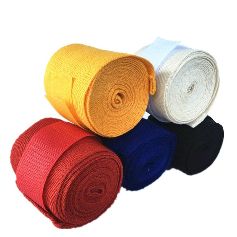 Boxing Hand Wraps Sports Safety hand guard tied hands with fighting wraps Muay Thai boxing 2.5m Cott