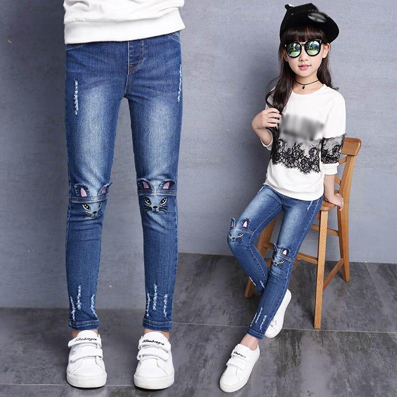 Flower Print Girls Pants Comfortable Cool 2019 Summer Girls Leggings Children Kids Pants Baby Girl Clothes Trousers 2-14T ddk012