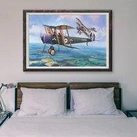 Peinture classique retro avec operations de vol davion de guerre T078  33 affiches en soie personnalisees  decoration murale  cadeau de noel