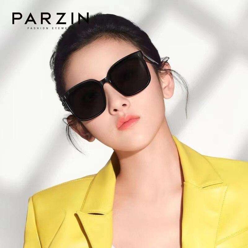 PARZIN-نظارات شمسية نسائية TR90 ، نظارات شمسية نسائية ذات علامة تجارية ، تصميم عتيق ، مقاس كبير ، صيفي ، كوري ، جديد ، 92102