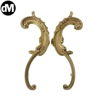 dm 1pcsset brass european brass double hole drawer knobs cabinet pulls door handle furniture home fitting kits shoe box handles