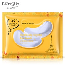 10pcs=5pairs Hot sale BIOAQUA Crystal Collagen Eye Mask Sticker anti-aging anti-puffiness dark circl