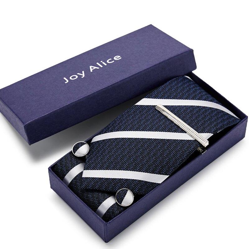 38 estilos de corbata para hombre corbata de colores de seda clásica tejida Jacquard gemelos y conjunto de pasadores para corbatas de boda de fiesta de negocios