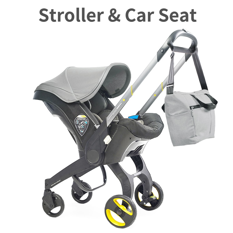 Baby Stroller 4 In1 Car Seat 0-2 Years Old Newborn Carriage Portable Pushchair Cart