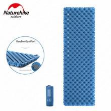 Naturehike 40D النايلون بولي TPU وسادة هوائية مزدوجة وسادة النوم حصيرة قابلة للنفخ المحمولة فراش للتخييم وسادة هوائية ل خيمة في الهواء الطلق