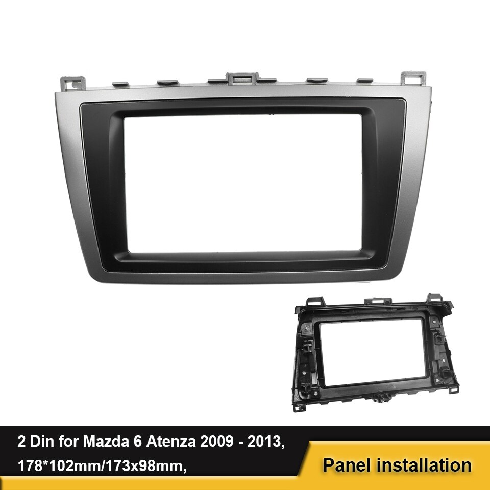 2 Din auto Stereo Panel Fascia para Mazda 6 Atenza 2009, 2010, 2011, 2012, 2013 DVD marco montaje Dash instalación Trim Kit bisel