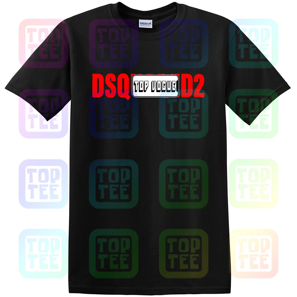 Nueva camiseta Dsq2 de manga corta ajustada con Logo impreso Unisex tamaño S-3Xl